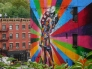 Mural of famous kiss in New York